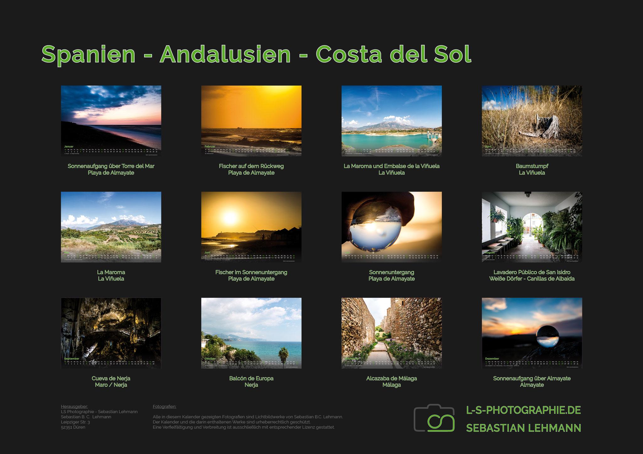 Kalender-2019-A3-14S-Spanien-Übersichtsseite
